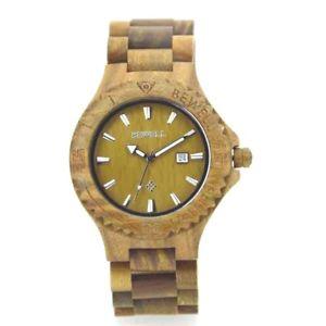 【送料無料】wood green wooden watch made of 100 natural wood, handmade ,with gift box
