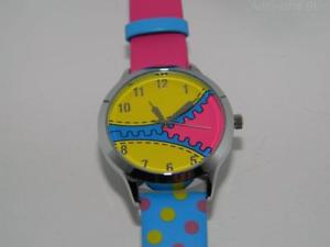 【送料無料】womens time concepts kezzi zipper design quartz hot pink strap watch