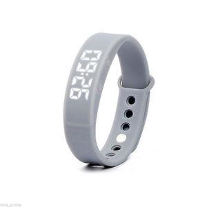 【送料無料】orologio sport amp; fitness 3d pedometro sleep monitor contapassi usb w5 grigio