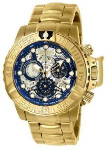 【送料無料】24772 invicta 47mm mens subaqua noma swiss chronograph gold tone bracelet watch