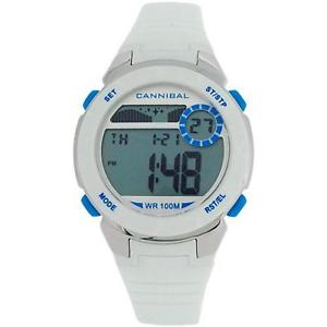 【送料無料】cannibal active girls digital chronograph white rubber strap watch cd27309