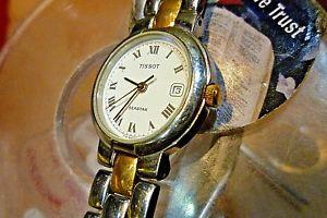 【送料無料】ladies 24mm tissot seastar 2tone quartz 6 wrist