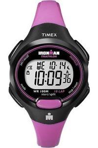 【送料無料】timex t5k525, womens 10lap ironman pink resin watch, alarm, indiglo, chrono