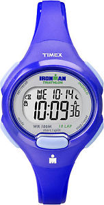 【送料無料】timex t5k784, womens 10lap ironman blue resin watch, indiglo, alarm, chrono