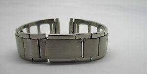 【送料無料】bracelet pour montre en metal satine ajoure entrecorne a ressort t15 a22