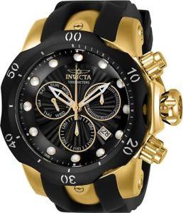 【送料無料】invicta 24257 mens venom quartz stainless steel and silicone casual watch