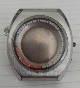 【送料無料】vintage big sicura breitling chronograph case retro for parts or to fix used