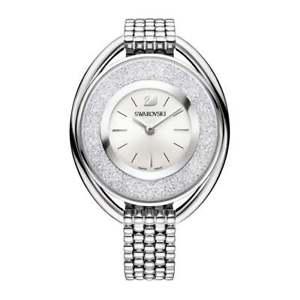 【送料無料】neues angebotorologio swarovski crystalline oval bianco 5181008 donna watch acciaio argento