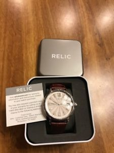 【送料無料】relic zr77291 womens darrin analog display analog quartz brown watch box incl