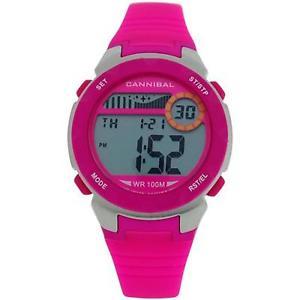 【送料無料】cannibal active girls digital chronograph hot pink rubber strap watch cd27314