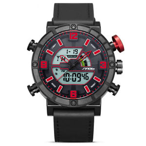 【送料無料】sinobi 9733 men dual display digital watch fashion sport chronograph alarm lumin