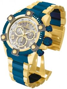 invicta 13023 mens reserve arsenal two tone gold plated bracelet chrono watch