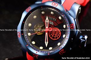 invicta 54mm lim ed marvel venom peter parker spiderman auto open heart watch