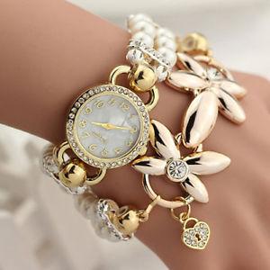【送料無料】luxury gold bracelet wrist watch women ladies creative xmas gifts for her mother