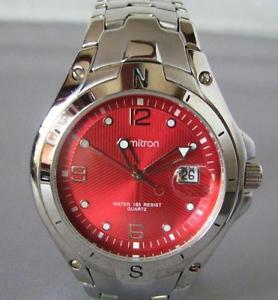 【送料無料】armitron quartz date watch in all stainless steel