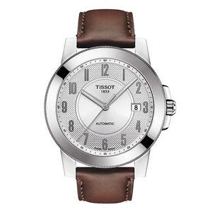 送料無料 tissot gentleman automatic mens t0984071603200 brown leather watch 新作続 年末年始大決算 strap