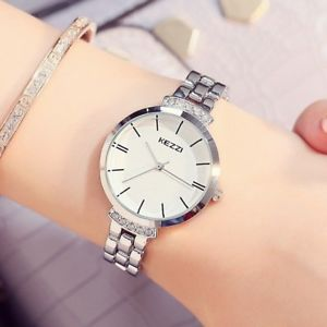 【送料無料】kezzi luxury stainless steel women watches simple waterproof quartz wristwat