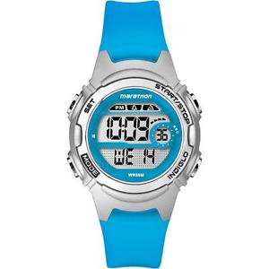 【送料無料】timex tw5k96900 chronograph childrens marathon watch with blue resin strap