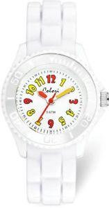 【送料無料】colori kids white colorful watch