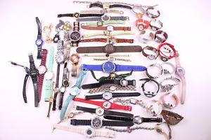 【送料無料】lot of 56 wrist watches ~ quartz, pca, j ferrar, armitron, geneva etc