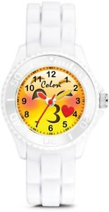 【送料無料】colori happy smile kissy 30mm white key ringwatch set