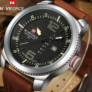 【送料無料】naviforce luxury fashion mens military sport watches men auto date quartz w