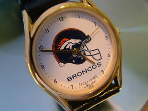 【送料無料】neues angebotrunning bulova mens mint denver broncos wristwatch works great