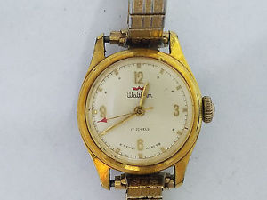 【送料無料】vintage waltham nurse wristwatch working 6525