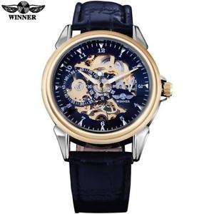 【送料無料】on  mens leather strap casual watch