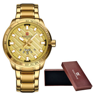 【送料無料】naviforce luxury watches men sport full steel quartz watch man 3atm waterpro