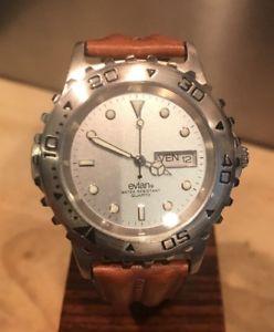 【送料無料】evian gents quartz watch mint condition