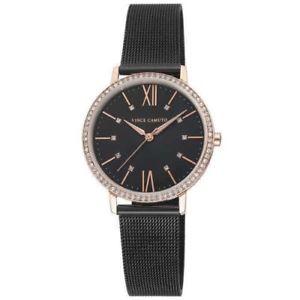 【送料無料】vince camuto womens 34mm mesh vc5351rgbk rose gold swarovski crystal watch