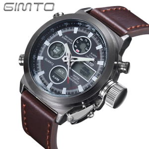 【送料無料】gimto military quartz sport watches for men analog digital nylon watch men cl