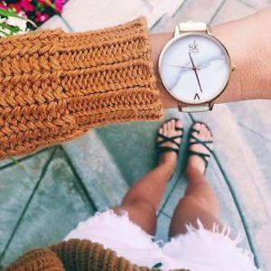 【送料無料】shengke women watches luxury leather fashion ladies geneva quartz wrist watc