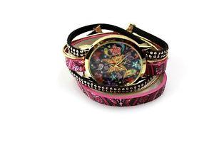 【送料無料】raspberry delight wrap bracelet watch