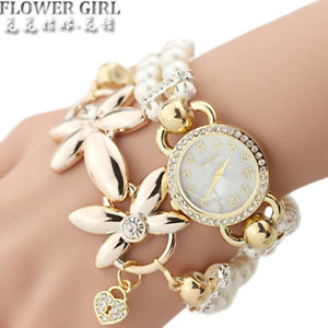 【送料無料】flower girl  quartz watch women watches ladies luxury bracelet wrist watch
