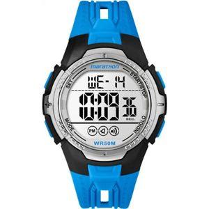 【送料無料】timex marathon digital sport watch  blue tw5m06900 quartz chronograph