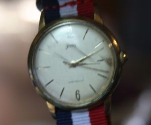 【送料無料】gama vintage hau handaufzug 1960er 17 rubis 2 nylonbnder germany