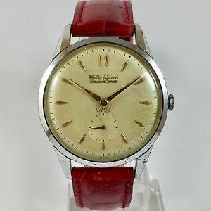 【送料無料】orologio philip watch chaux de fonds fuorimisura carica manuale cromato