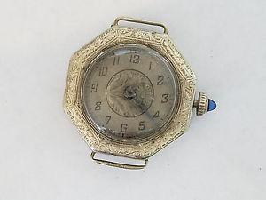 【送料無料】hekler 14k white gold filled wristwatch manual wind 0747