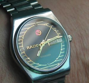 awesome rado voyager vintage 21 jewel eta automatic  loads of  parts