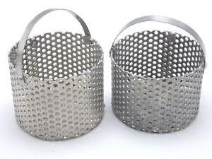 【送料無料】lot of 2 stainless steel watch cleaning machine ultrasonic cleaner baskets 2 14