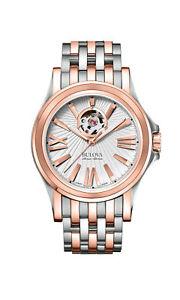 【送料無料】bulova mens kirkwood swiss automatic stainless steel casual watch 65a105