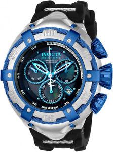 【送料無料】invicta mens bolt chrono 500m mother of pearl s steel silicone watch 21350