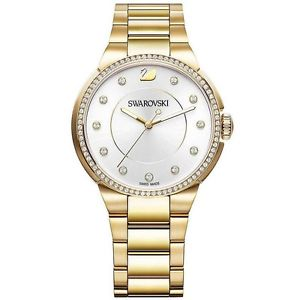 【送料無料】orologio swarovski city yellow gold oro 5213729 donna watch novit acciaio swiss