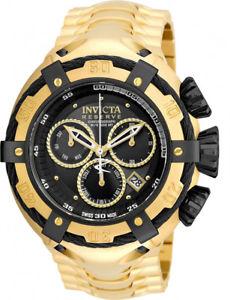 【送料無料】invicta men bolt swiss quartz chrono 500m gold tone stainless steel watch 21346