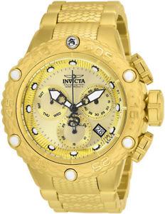【送料無料】invicta mens subaqua quartz chronograph gold plated stainless steel watch 26648