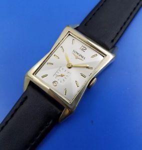【送料無料】vintage 1950 mans longines *flared case* hand winding fully serviced