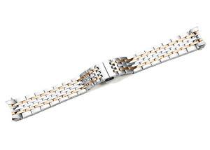 【送料無料】19mm rose gold straight end link stainless steel bracelet for tissot le locle
