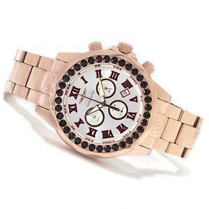 【送料無料】invicta mens grand diver limited swiss blk spinel accent rose gold watch 14537